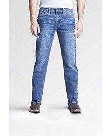 Men's Boot Cut Fit Performance Stretch Denim Jeans, Ash Wash