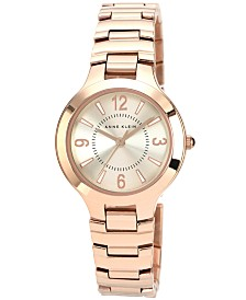 Anne Klein Watch, Women's Rose Gold-Tone Bracelet 32mm AK-1450RGRG