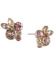 Crystal Floral Cluster Stud Earrings