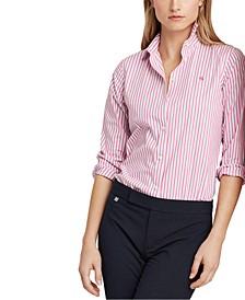 Petite Striped Easy Care Shirt