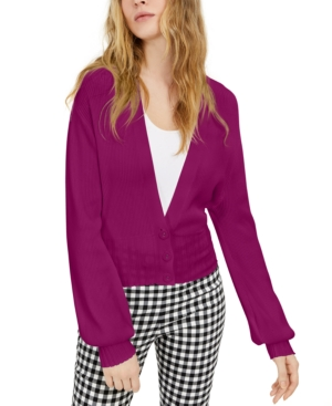I.n.c. Petite Ribbed Blouson Sleeve Cardigan, Created for Macy's