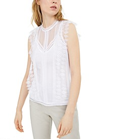 INC Lace Top, Created for Macy's