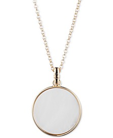 "Gold-Tone Mother-of-Pearl 36"" Pendant Necklace"