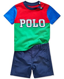 Baby Boys Logo Cotton T-Shirt & Shorts Set