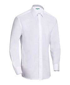 Men's Slim-Fit Cotton Dress Shirt
