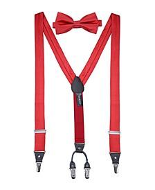 Men's Sharp Dressed Suspenders Bow Tie Set
