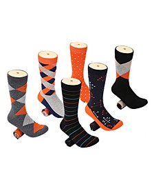 Men's Snazzy Collection Dress Socks Pack of 6