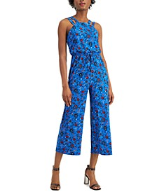 Cropped Double-Strap Jumpsuit, Created for Macy's