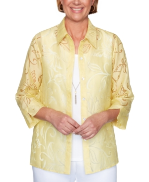 Women's Missy Spring Lake Butterfly Burnout Two For One Shirt
