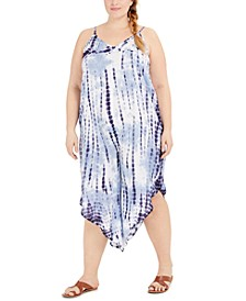 Plus Size Tie-Dyed Jumpsuit Swim Cover-Up