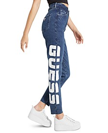 '90s Super-High Rise Logo Skinny Jeans