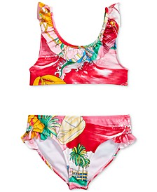 Toddler Girls Lobster Two-Piece Swimsuit