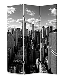 Double sided with different Design 3 Panel 6' New York Skyline Screen