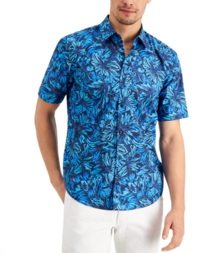 Hugo Men's Ermino Slim-Fit Floral-Print Shirt