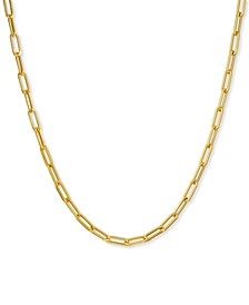 "Paperclip Link 20"" Chain Necklace in 14k Gold"