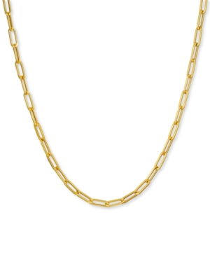 """Paperclip Link 20"""" Chain Necklace in 14k Gold"""