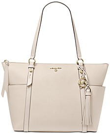 Sullivan Large Leather Top Zip Tote