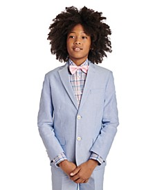 Big Boys Blue Oxford Suit Jacket