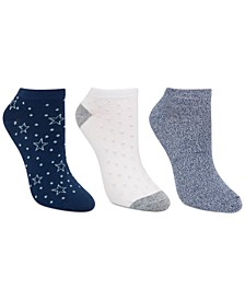Women's 3-Pk Star Dot Low-Cut Socks