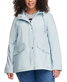 Levi's® Trendy Plus Size Hooded Lightweight Rain Jacket