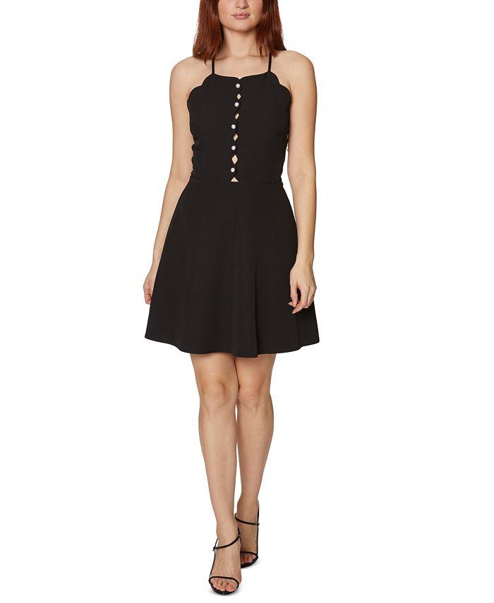 Betsey Johnson - Scalloped Halter-Neck Dress
