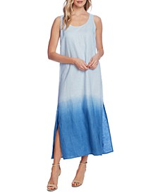 Linen Dip-Dyed Tank Dress
