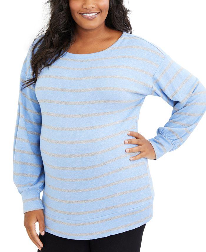 Motherhood Maternity - Maternity Plus Size Striped Top