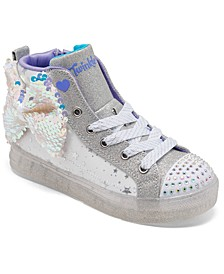 Little Girls' Twinkle Toes: Shuffle Brights 2.0 - Twinkle Bow High-Top Fashion Casual Sneakers from Finish Line