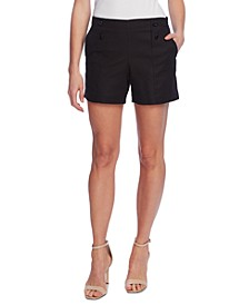 Double-Weave Button-Front Shorts