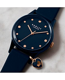 Women's Navy Blue Silicone Strap Watch 34 mm