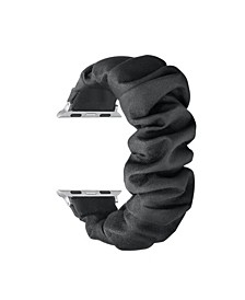 Men and Women Black Scrunchie Replacement Band for Apple Watch, 38mm
