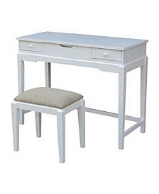 Vanity Table with Vanity Bench