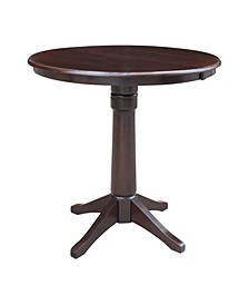"36"" Round Top Pedestal Table with 12"" Leaf"