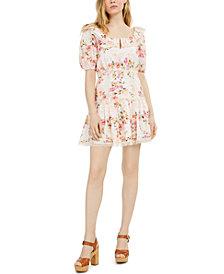 GUESS Martina Printed Cotton Eyelet Dress