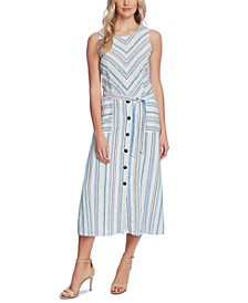 Wistful Stripe A-Line Dress