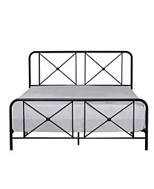 Williamsburg Metal Bed with Decorative Double X Design, Full