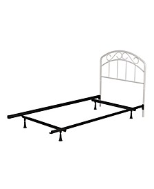 Jolie Arched Scroll Metal Headboard with Bed Frame, Twin