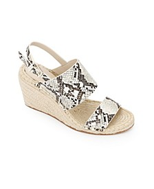 Olivia Low Wedge Sandals