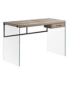 "Computer Desk - 48"" L Reclaimed Glass Panels"