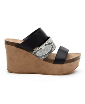 Matisse Gina Wedge Sandal Women's Shoes In Black
