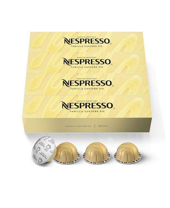 Nespresso - Capsules VertuoLine, Vanilla Custard Pie, Mild Roast Coffee, 40-Count Coffee Pods