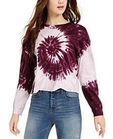 Juniors' Tie-Dye Long-Sleeved T-Shirt
