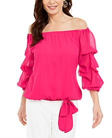 Off-The-Shoulder Puff-Sleeve Top