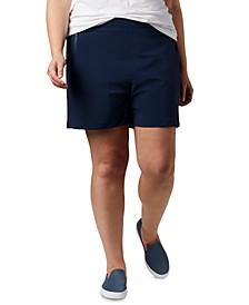 Plus Size Adjustable-Waist SPF Shorts