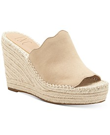 INC Camile Slide Wedge Sandals, Created for Macy's