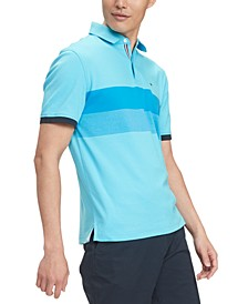 Men's Classic-Fit Brooks Colorblocked Stripe Polo Shirt