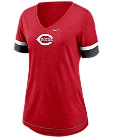 Cincinnati Reds Women's Tri-Blend Fan T-Shirt