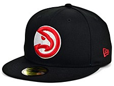 Atlanta Hawks Men's All Around Fitted Cap