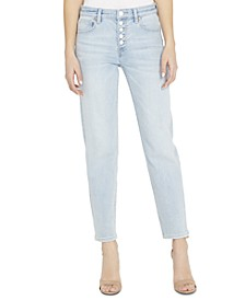 Slim Straight-Leg Button-Fly Jeans