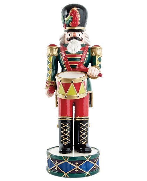Fitz and Floyd Green Nutcracker Collectible Figurine